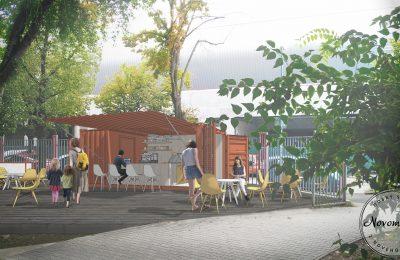 Detské ihrisko Jama s novou kaviarňou
